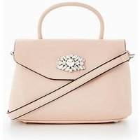V by Very Top Handle Embellished Tote, Nude, Women