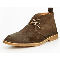 Selected Homme Selected Homme Royce Chukka Wax Suede Boot, Forest Night, Size 6, Men