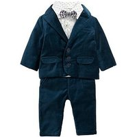 Mamas & Papas Baby Boys 4 Piece Tux Outfit, Blue, Size 2-3 Years