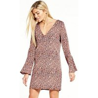 Vila Lasha Three-quarter Sleeve Dress, Print, Size 6=Xs, Women