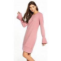 Vila Mista Long Sleeve Sweat Dress, Lilas, Size 6=Xs, Women