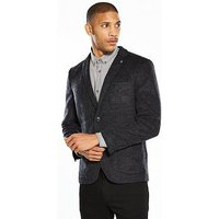 Selected Homme Grey Ron Blazer, Dark Grey, Size 38, Men