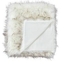 Cascade Home Luxury Faux Fur Tipped Throw