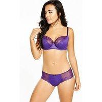 Cleo by Panache Cleo Hettie Balconette Bra, Purple, Size 34Ff, Women