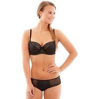 Cleo by Panache Cleo Hettie Balconette Bra, Black, Size 28F, Women