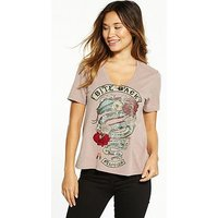Religion Bite Back Tee, Adobe Rose, Size 6, Women