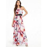 Little Mistress Flower Print Maxi Dress