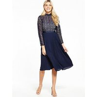 Little Mistress Crochet Top Midi Dress