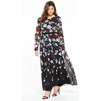 Little Mistress Curve Floral Maxi Dress