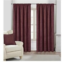 Faux Suede Lined Pleated Curtains