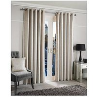 Luxe Collection Glimmer Lined Eyelet Curtains