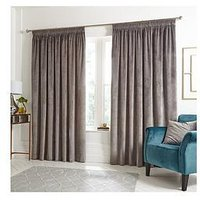Ideal Home Luxury Opulence Pleated Curtains