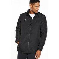Umbro Club Essential Bench Jacket, Black, Size M, Men