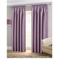 Jodie Faux Silk Lined Pleated Curtains