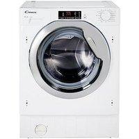 Candy Cbwm814Dc 8Kg Load, 1400 Spin Integrated Washing Machine - White - Washing Machine Only