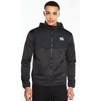 Canterbury Thermoreg Spacer Fleece Full Zip Hoodie, Black, Size 2Xl, Men