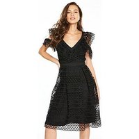 V By Very Geo Lace Prom Dress