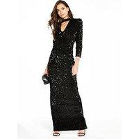 V By Very Choker Sequin Maxi Dress