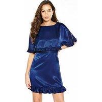 V by Very Frill Cape Dress, Navy, Size 18, Women