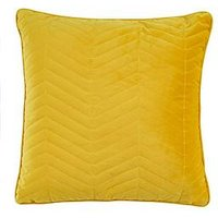 Ideal Home Quilted Velvet Cushion