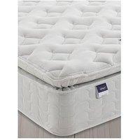 Product photograph showing Silentnight Miracoil Sprung Pippa Memory Pillowtop Mattress - Medium Firm - Mattress Only