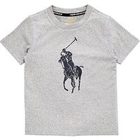 Boys, Ralph Lauren Active Big Pony T-shirt, Andover Heather, Size 18-20 Years=Xl