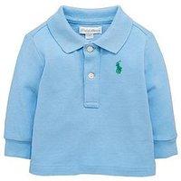 Ralph Lauren Baby Boys Long Sleeve Polo, Blue, Size 6 Months