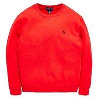 Ralph Lauren Boys Classic Crew Sweat, Red, Size 6 Years