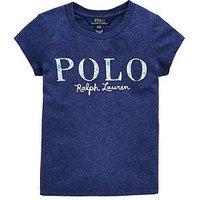 Ralph Lauren Ralph Lauren Girls Short Sleeve Polo Graphic T-shirt, Blue, Size Age: 3 Years, Women