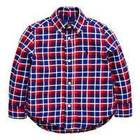 Ralph Lauren Boys Long Sleeve Check Shirt, Red Multi, Size 10-12 Years=M