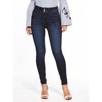 V by Very Premium Contour Sculpt Skinny Jeans - Indigo Wash, Indigo, Size 8, Women