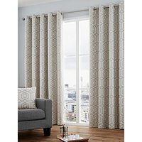 Luxe Collection Camberwell Jaquard Lined Eyelet Curtains
