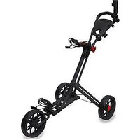 Eze Glide Smart Fold Trolley, With Wheel Cover &Amp; Umbrella Holder - Black