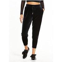 Puma Yogini Velvet Pants - Black , Black, Size S, Women
