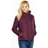 Converse Poly Fill Quilted Jacket - Burgundy , Burgundy, Size Xl, Women