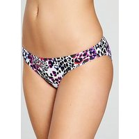 V by Very Mix & Match Hipster Bikini Brief, Animal Print, Size 18, Women
