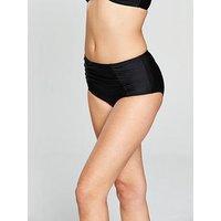 V by Very Mix & Match High Waist Bikini Brief, Black, Size 18, Women