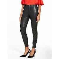 Boss Orange Saby PU Trouser - Black, Black, Size 14, Women