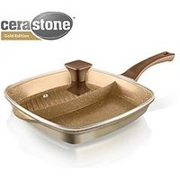 Tower Cerastone 2-In-1 Cast Aluminium Grill Pan - Gold