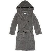 Boys, Calvin Klein Micro Cotton Towelling Robe, Steel Grey, Size Age: M