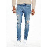 V by Very Skinny Rip&Repair Jean, Vintage Wash, Size 34, Inside Leg Regular, Men