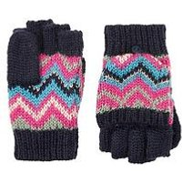 Monsoon Heritage Stripe Capped Gloves, Multi, Size 3-6 Years
