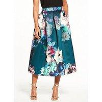Closet  Closet Floral Full Midi Skirt