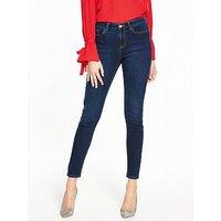 V by Very Denni Skinny Jeans - Blue, Indigo, Size 10, Inside Leg Long, Women