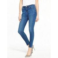 V by Very Tall Denni Mid Rise Skinny, Mid Wash, Size 22, Inside Leg Xlong, Women