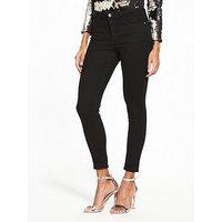 V by Very TALL Denni Mid Rise Skinny Jean , Black, Size 16, Inside Leg Xlong, Women