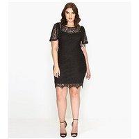 Paper Dolls CURVE Crochet Lace Dress, Black, Size 22, Women