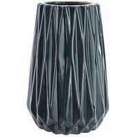 Small Blue Geometric Design Vase 15Cm