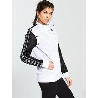 Kappa Icepop Popper 2-in-1 Track Jacket - Black , White/Black, Size S, Women