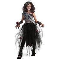 Girls Goth Prom Queen Halloween Costume